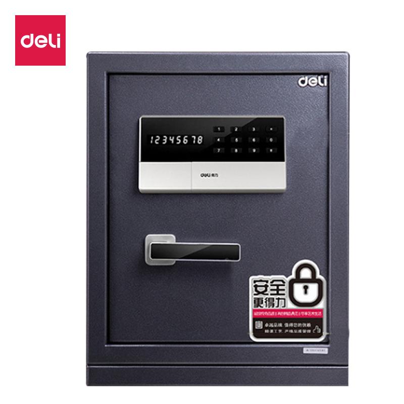 得力 3654A/3655A 电子密码保管箱 小型密码入墙隐形全钢
